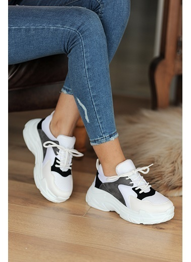 Pembe Potin A0806-20 Kadın Ayakkabı Gri